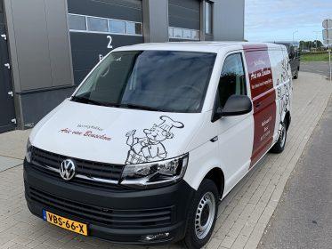Autobelettering Beesd - VW Transporter Bezorgbakker Arie van Beusekom
