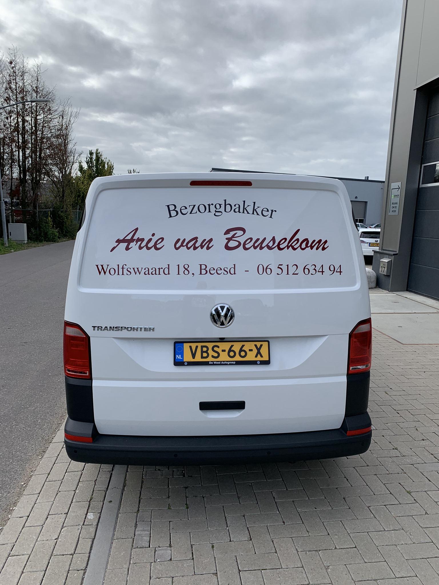 VW Transporter Bezorgbakker Arie van Beusekom
