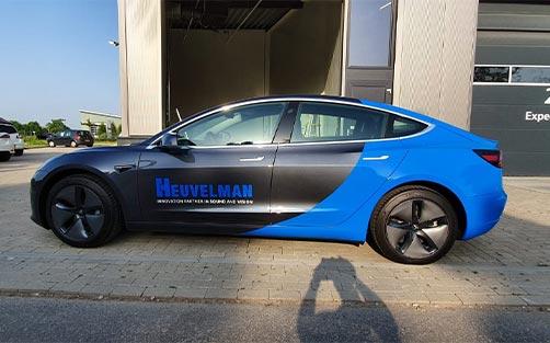 Autobelettering  - Tesla 3 Firma Heuvelman