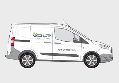 Autobelettering Volt Elektro Groep