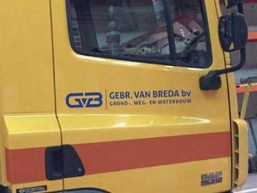 Autobelettering Geldermalsen - De Gebr. van Breda