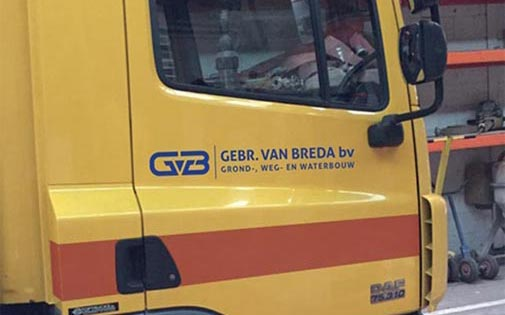 De Gebr. van Breda - Autobelettering Kemker