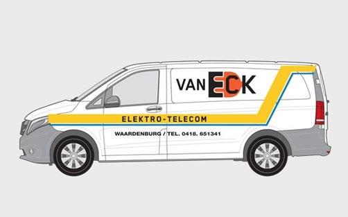 Eck Elektro Telecom - Autobelettering Kemker