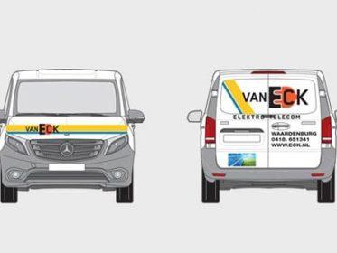 Autobelettering Waardenburg - Eck Elektro Telecom